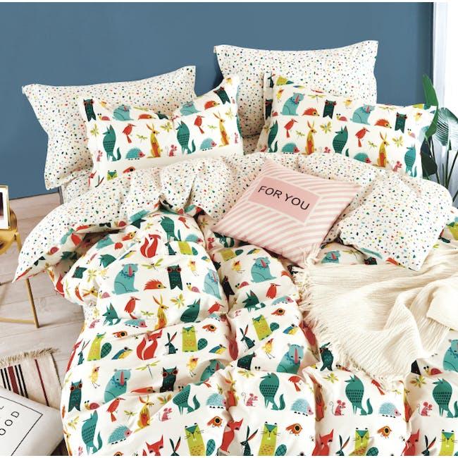 Jungle Friends 4-pc Bedding Set (2 Sizes) - 0