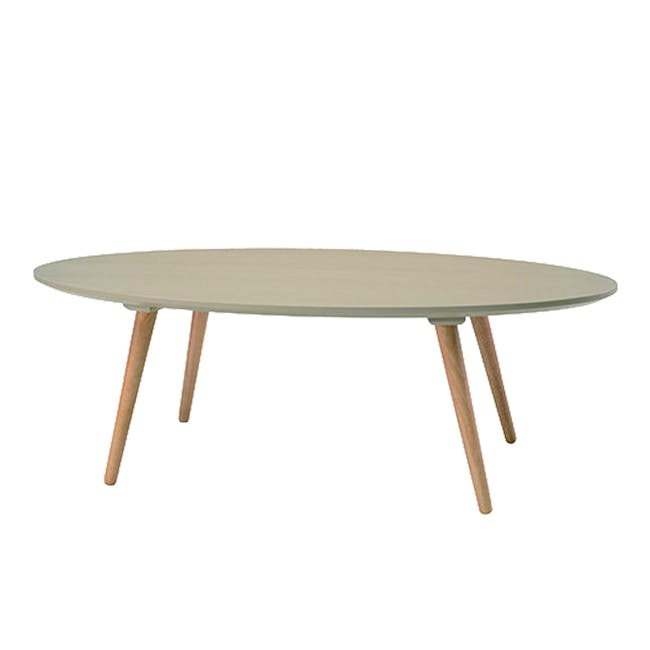 Keita TV Console 1.8m in Oak with Carsyn Oval Coffee Table in Taupe Grey - 13