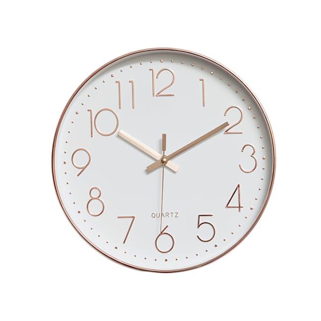 Rose Gold Wall Clock - 0