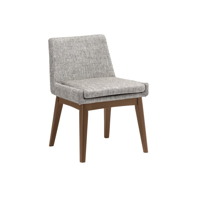 Clarkson Dining Table 2.2m in Cocoa with 4 Fabian Chairs in Cocoa, Dolphin Grey - 14