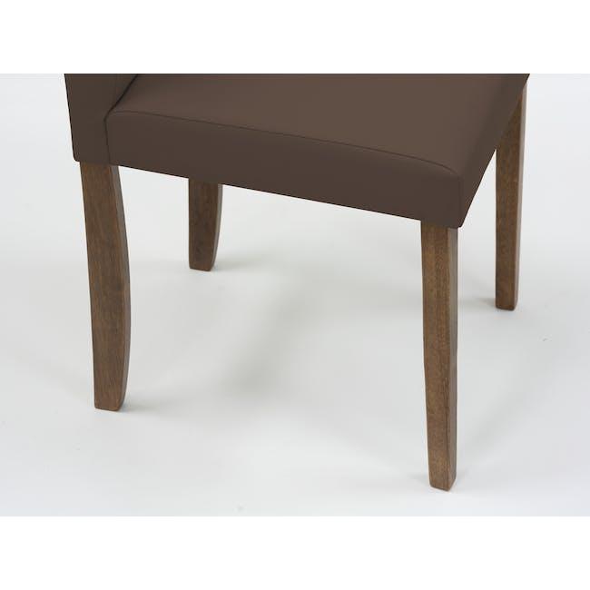 Dahlia Dining Chair - Cocoa, Mocha (Faux Leather) - 7