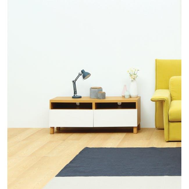 Gordon TV Console 1.2m with Dana Rectangular Coffee Table - Walnut - 3