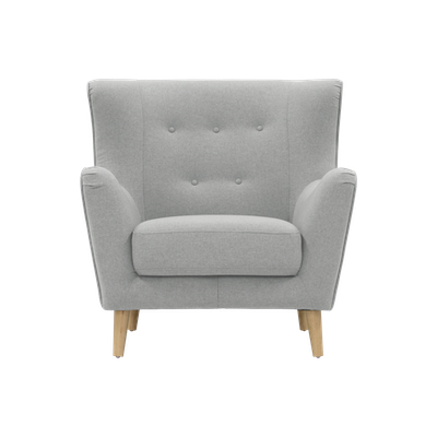 Jacob Armchair - Silver - Image 1