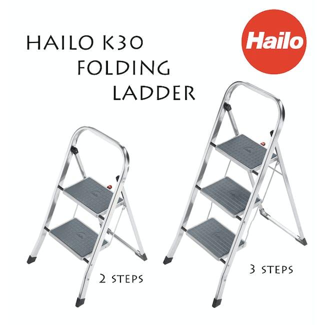 Hailo K30 Light Weight 2 Step Folding Ladder - 1