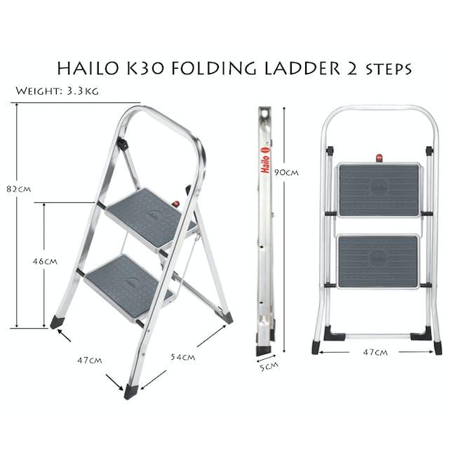 Hailo K30 Light Weight 2 Step Folding Ladder - 2