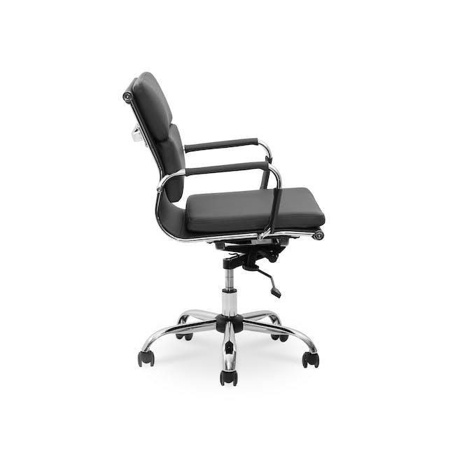 Eames Soft Pad Mid Back Office Chair Replica - Black (PU) - 3