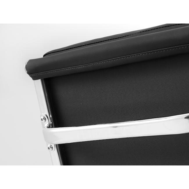 Eames Soft Pad Mid Back Office Chair Replica - Black (PU) - 4
