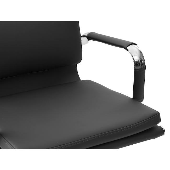 Eames Soft Pad Mid Back Office Chair Replica - Black (PU) - 5