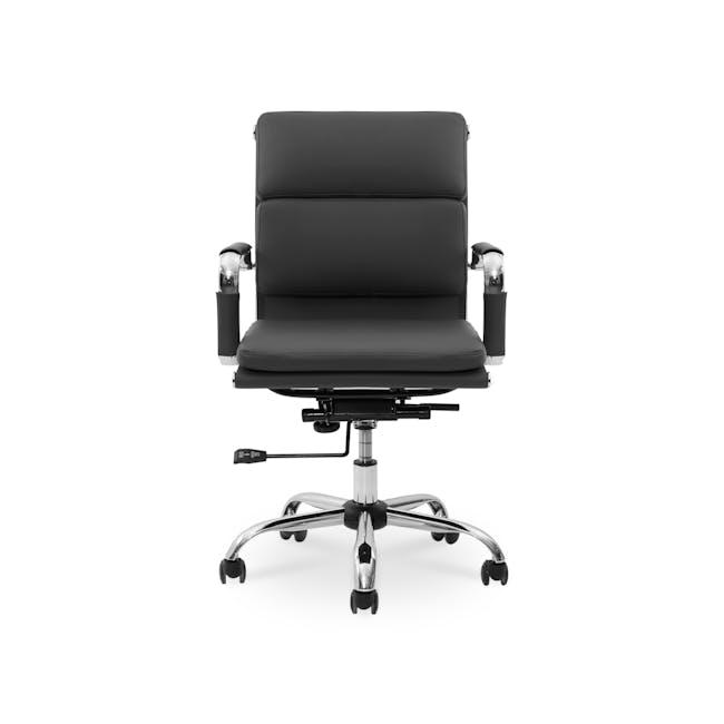 Eames Soft Pad Mid Back Office Chair Replica - Black (PU) - 0