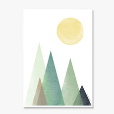 Sunny Peaks Poster Print