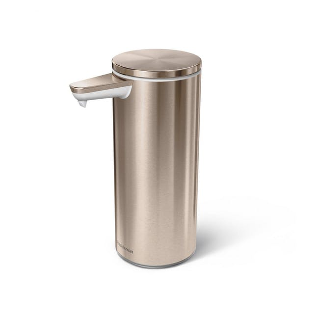 simplehuman Sensor 9oz Soap Pump Rechargeable - Rose Gold - 0