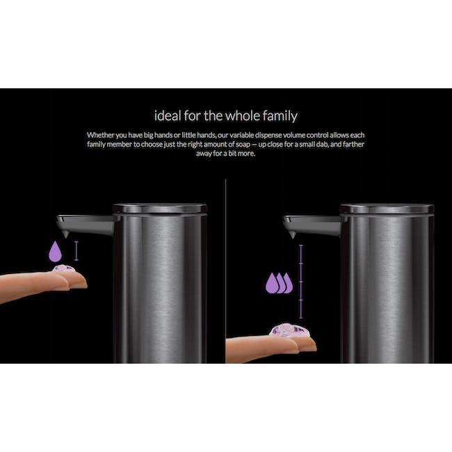 simplehuman Sensor 9oz Soap Pump Rechargeable - Rose Gold - 4