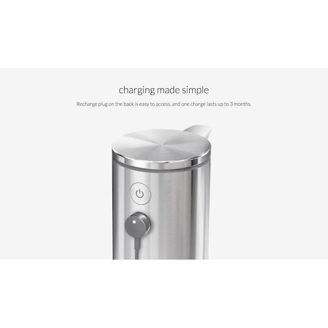 simplehuman Sensor 9oz Soap Pump Rechargeable - Rose Gold - 6