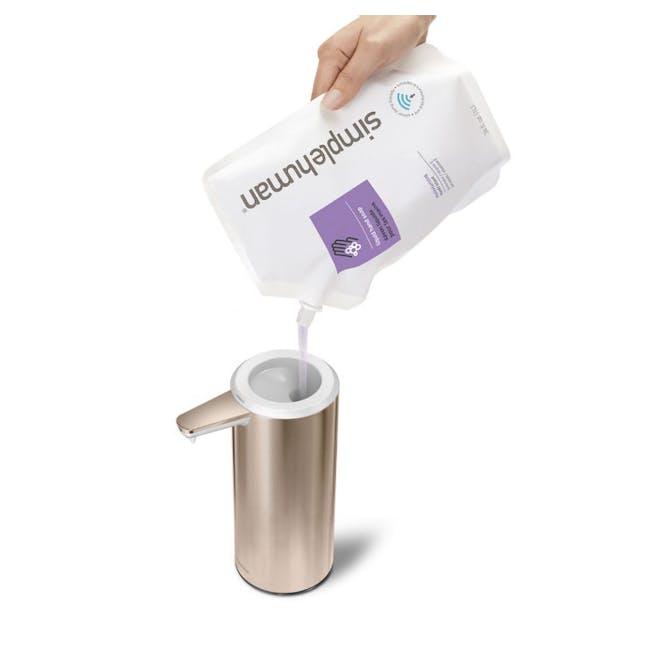 simplehuman Sensor 9oz Soap Pump Rechargeable - Rose Gold - 2