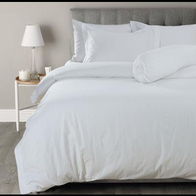 (King) Hotelier Prestigio™ 6-pc Bedding Set - White Sateen Stripe - Image 2