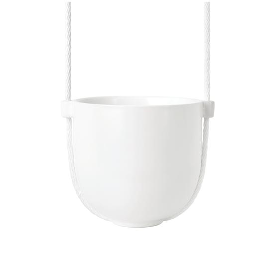 Umbra - Bolo Hanging Planter - White, Brass