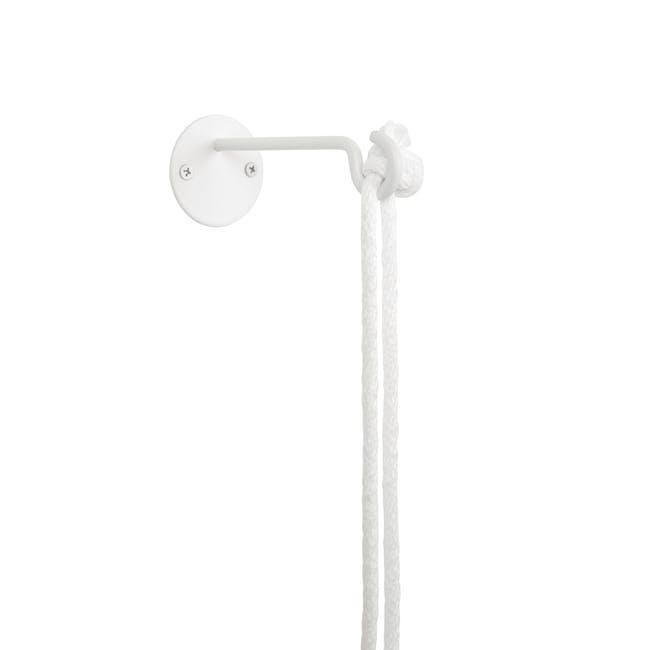 Bolo Hanging Planter - White, Brass - 2