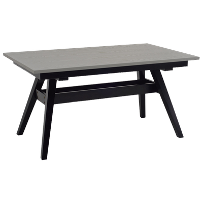 Valko 6 Seater Dining Table - Grey, Black - Image 2