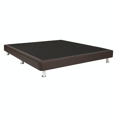 Mike Divan Bed - Brown (Faux Leather)