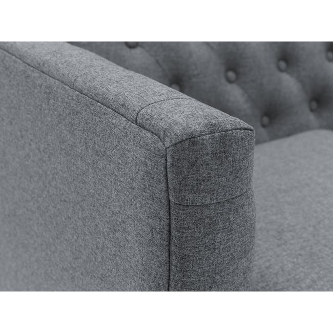 (As-is) Cadencia Armchair - Charcoal Grey (Fabric) - 4
