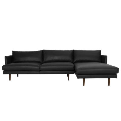 Duster L Shape Sofa - Black (Premium Leather) - Image 1