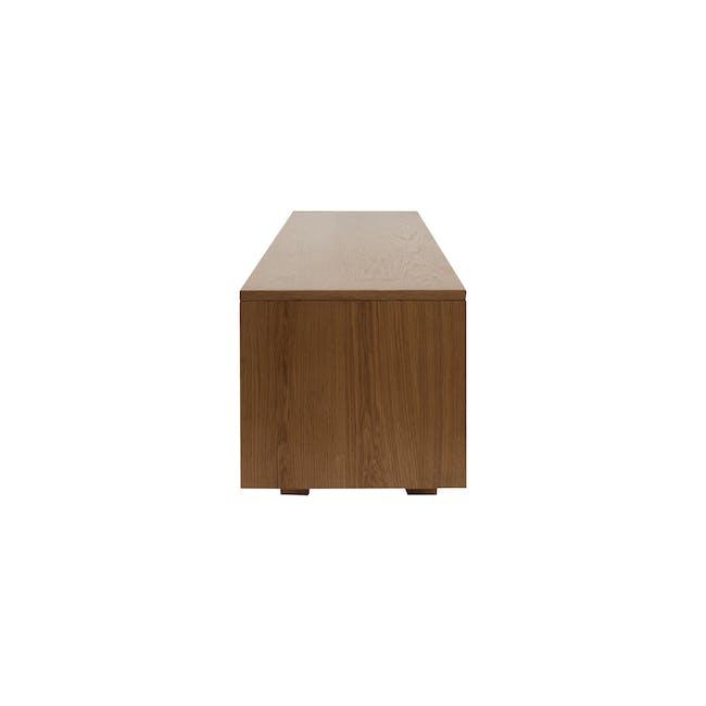 Keita TV Console 1.8m in Walnut with Carsyn Oval Coffee Table in Cocoa - 6