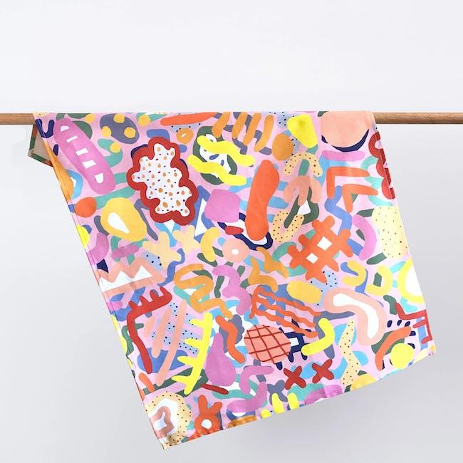 Shuh Tea Towel - Coral - 0