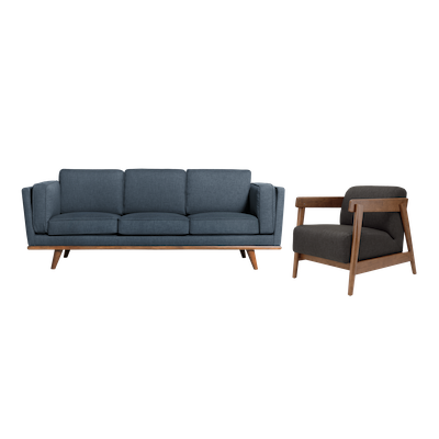 Carter 3 Seater Sofa with Daewood Lounge Chair - Image 1