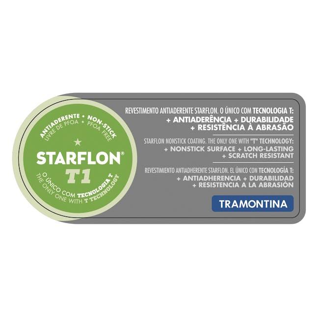 Tramontina Starflon Non-Stick Wok with Lid32cm - 3