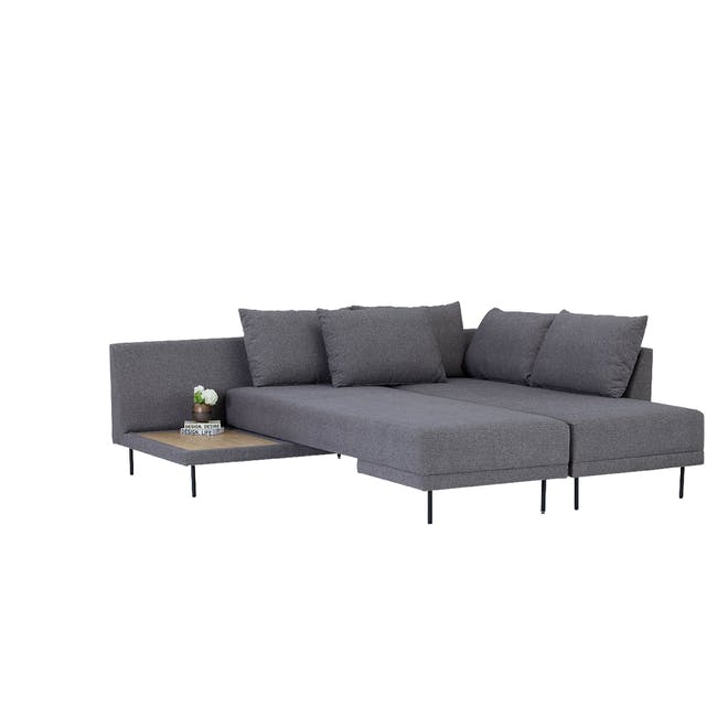 Antwon L-Shaped Sofa Bed - Grey (Easy Clean Fabric) - 3