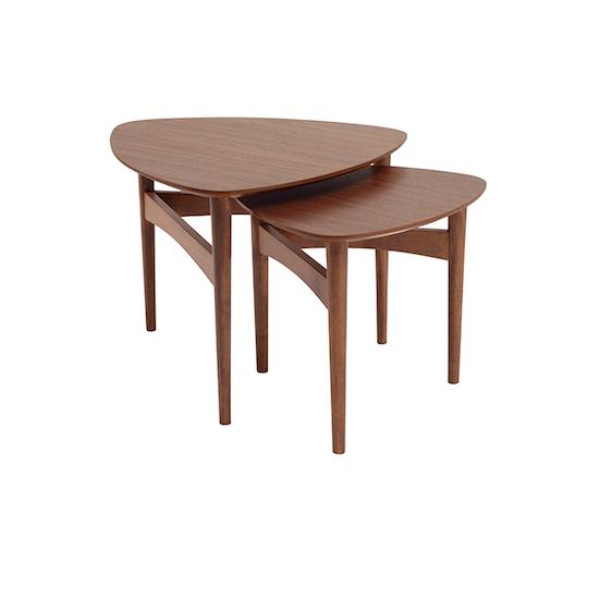 Malmo - Poet Occasional Table Set - Walnut