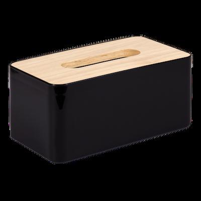Wooden Tissue Box - Black - Image 1