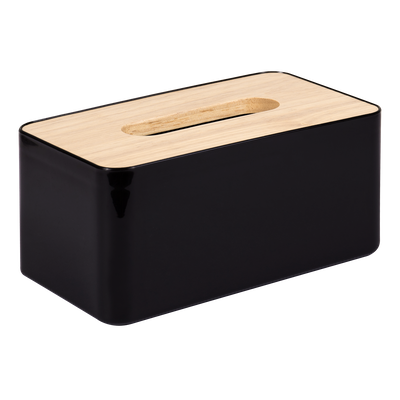 Wooden Tissue Box - Black - Image 1