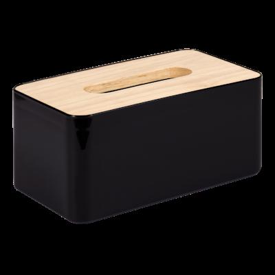 Wooden Tissue Box - Black