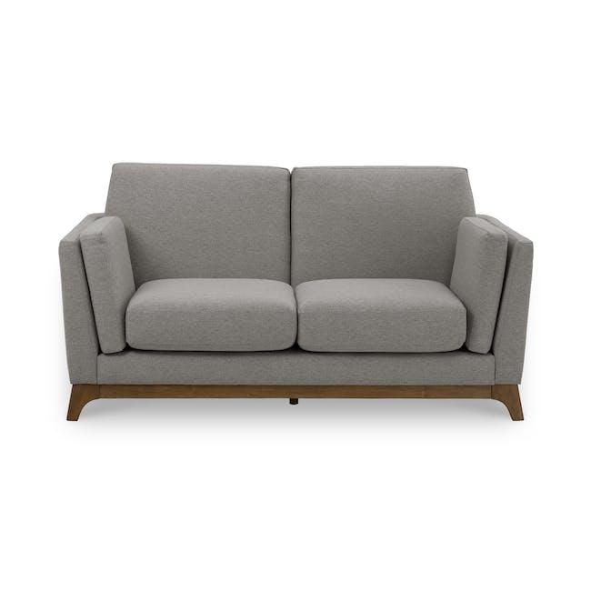 Elijah 2 Seater Sofa - Dolphin Grey (Fabric) - 0