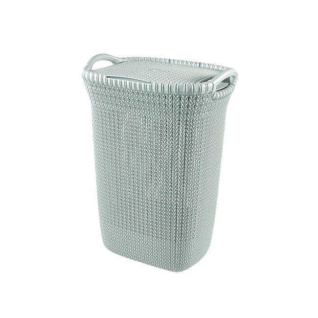 Knit Laundry Hamper with Lid 57L - TW Grayish - 0