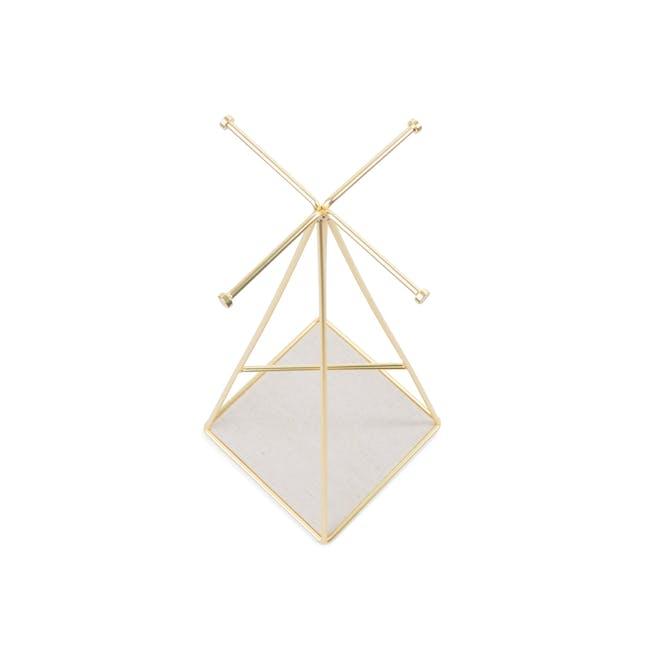 Prisma Jewelry Stand with Prisma Jewelry Tray - Brass - 6