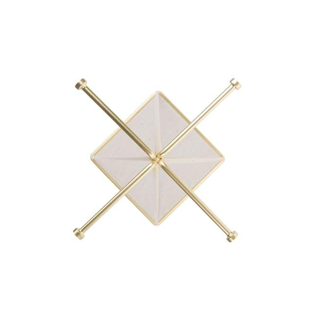 Prisma Jewelry Stand with Prisma Jewelry Tray - Brass - 7