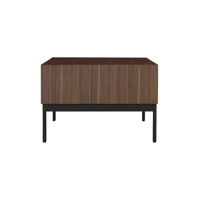 (As-is) Bacchus Twin Drawer Coffee Table - Grey, Walnut - 5 - 15