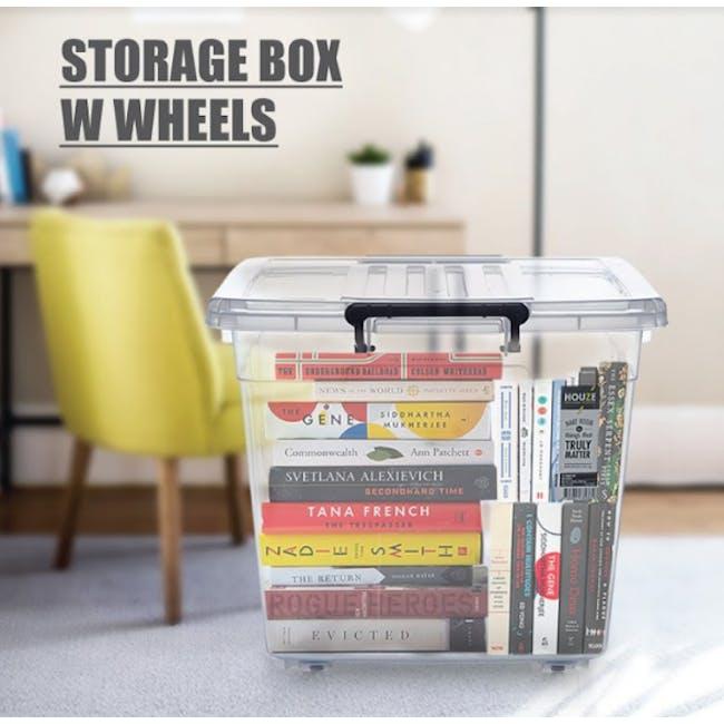HOUZE 95L Storage Box with Wheels - 2