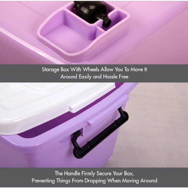 HOUZE 95L Storage Box with Wheels - 4