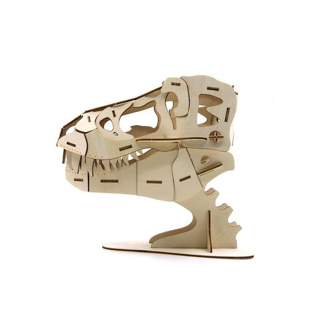 Jigzle Lifestyle Animal T-Rex Accessory Case 3D Wooden Figurine - 2
