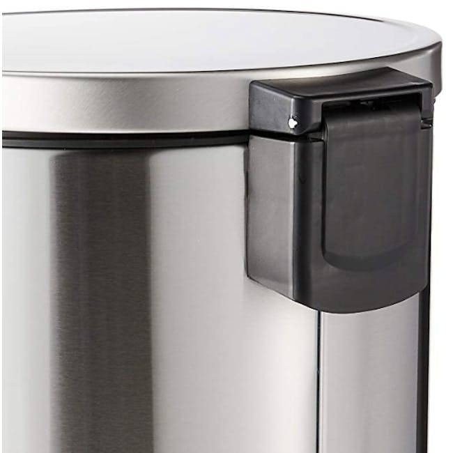 EKO Stainless Steel Step Bin With Soft Closing Lid - Brushed (2 Sizes) - 1