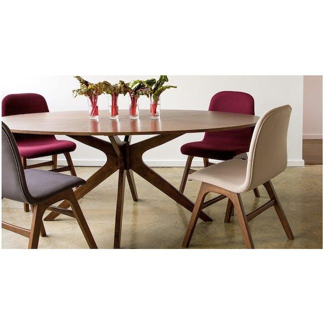 Ava Dining Chair - Black Ash, Ruby - 2