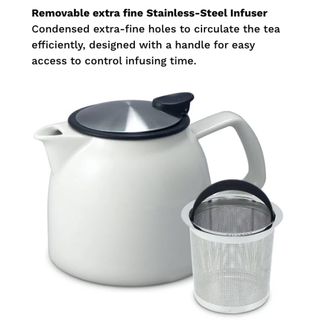 Forlife Bell Teapot - White (2 Sizes) - 6