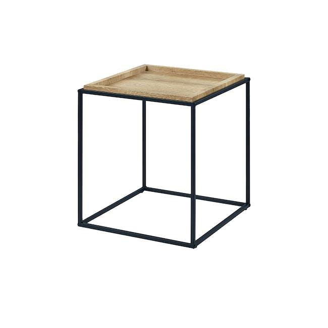 Dana Square Side Table - Oak - 0