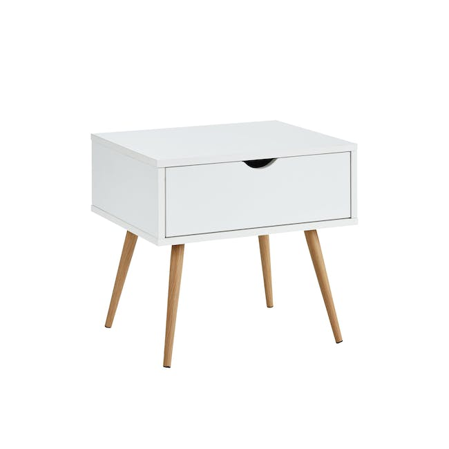 Hiro Super Single Platform Bed with 1 Dallas Bedside Table - 10