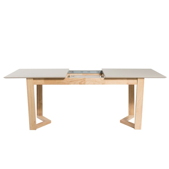 Meera Extendable Dining Table 1.6m - Natural, Taupe Grey - 9