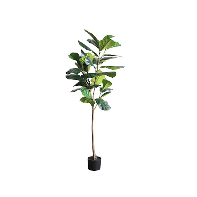 Potted Faux Fiddle Leaf Fig Tree 150 cm - 0