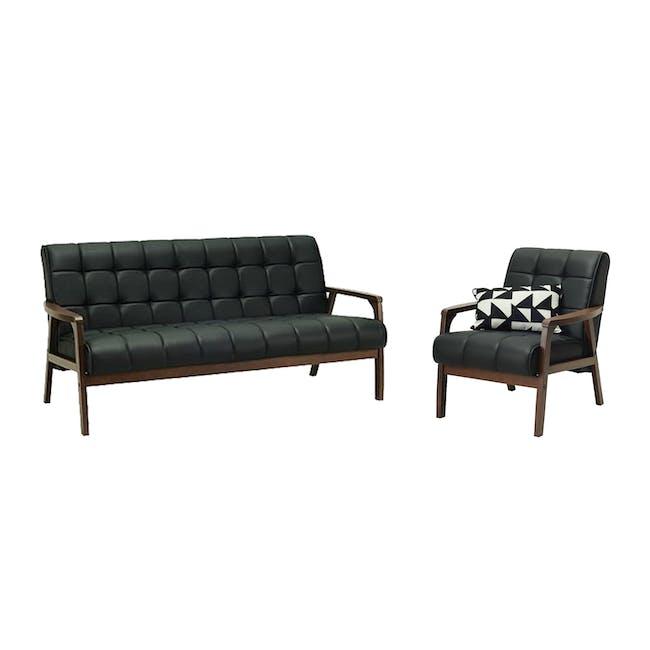Tucson 3 Seater Sofa with Tucson Armchair - Espresso - 0